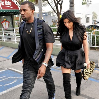 Kanye West - Kanye West and Kim Kardashian Leaving Kung Pao Bistro