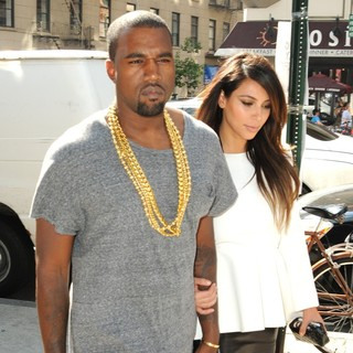 Kanye West, Kim Kardashian in Kim Kardashian and Kanye West Are Seen Leaving Soho to Go to A Movie Theater