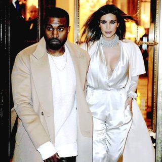 Kanye West, Kim Kardashian in Kanye West and Kim Kardashian Leaving Their Hotel During Paris Fashion Week