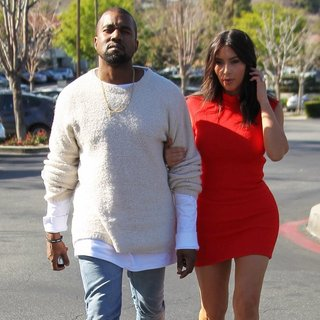 Kanye West, Kim Kardashian in Kanye West Takes Kim Kardashian to See The Movie Need for Speed