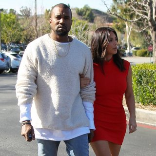 Kanye West - Kanye West Takes Kim Kardashian to See The Movie Need for Speed