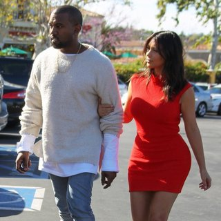 Kim Kardashian - Kanye West Takes Kim Kardashian to See The Movie Need for Speed