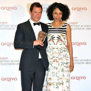 Dominic West, Sophie Okonedo in The 2012 Arqiva British Academy Television Awards - Winners Board