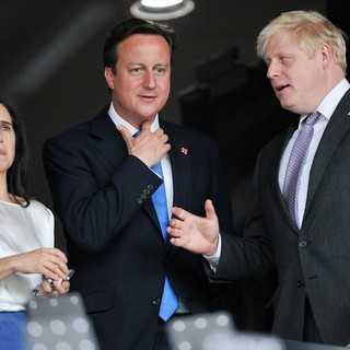 Marina Wheeler, David Cameron, Boris Johnson in The Opening Ceremony of The London 2012 Olympic Games