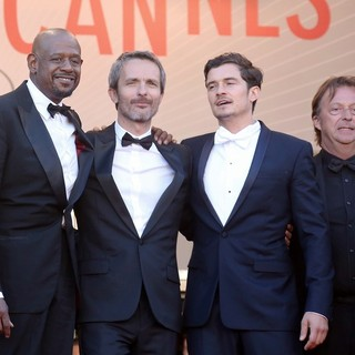 Forest Whitaker, Jerome Salle, Orlando Bloom, Richard Grandpierre in 66th Cannes Film Festival - Zulu - Premiere