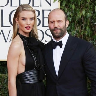 Rosie Huntington-Whiteley, Jason Statham in 70th Annual Golden Globe Awards - Arrivals