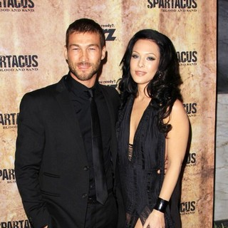 Andy Whitfield, Erin Cummings in Spartacus: Blood and Sand Premiere