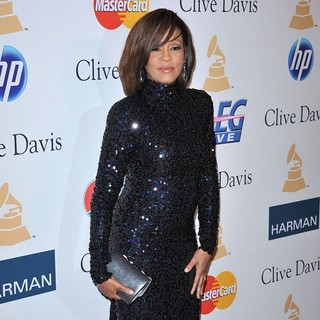 Whitney Houston in 2011 Pre-Grammy Gala and Salute to Industry Icons Honoring David Geffen - Arrivals