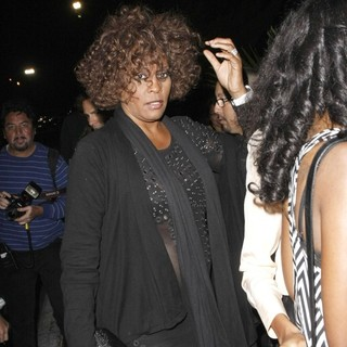 Whitney Houston in Whitney Houston Arrives at The Forum to Watch Prince in Concert