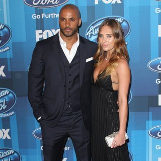 Ricky Whittle, Carley Stenson (II) in American Idol Finale for The Farewell Season - Red Carpet Arrivals