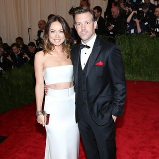 Olivia Wilde, Jason Sudeikis in PUNK: Chaos to Couture Costume Institute Gala