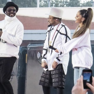 will.i.am, apl.de.ap, Ariana Grande in One Love Manchester Concert
