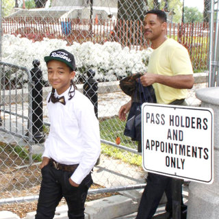 Jaden Smith, Will Smith in Celebrities Leaving The White House After A Soundcheck for The Easter Egg Hunt Concert