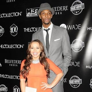 Adrienne Williams, Chris Bosh in Dwyane Wade's 30th Birthday Celebration
