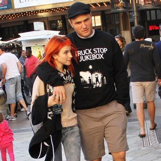 Hayley Williams, Chad Gilbert in Hayley Williams Out and About at The Grove with Chad Gilbert