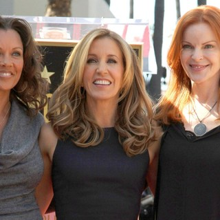 Vanessa Williams, Felicity Huffman, Marcia Cross in Felicity Huffman and William H. Macy Are Honored with Stars at The Hollywood Walk of Fame