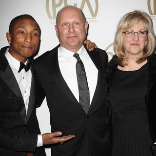 Pharrell Williams, Christopher Meledandri, Janet Healy in The 25th Annual Producer Guild of America Awards - Arrivals