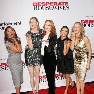 Vanessa Williams, Brenda Strong, Marcia Cross, Eva Longoria, Felicity Huffman in Desperate Housewives Final Season Kick-Off Party