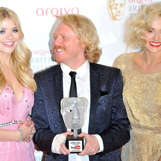 Holly Willoughby, Leigh Francis, Fearne Cotton in The 2012 Arqiva British Academy Television Awards - Winners Board