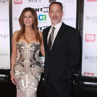 Rita Wilson, Tom Hanks in Muhammad Ali's Celebrity Fight Night XIII