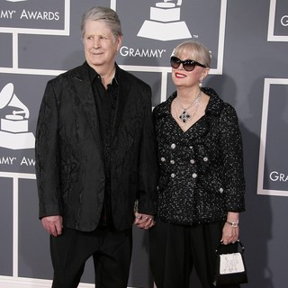 Brian Wilson, Melinda Ledbetter in 55th Annual GRAMMY Awards - Arrivals