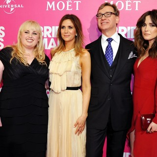 Rebel Wilson, Kristen Wiig, Paul Feig, Rose Byrne in Celebrity Girls Night Out to Celebrate The Highly-Anticipated Release of The Film Bridesmaids