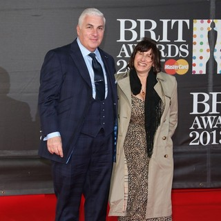 Mitch Winehouse, Janis Winehouse in The 2013 Brit Awards - Arrivals