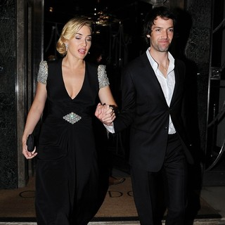 Kate Winslet, Ned Rocknroll in Kate Winslet with Ned Rocknroll Leave Claridge's Hotel