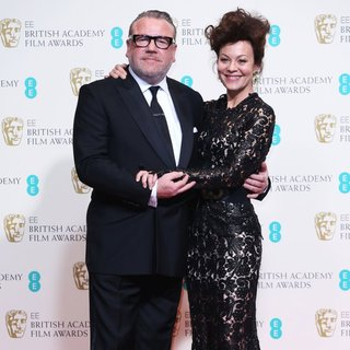 Ray Winstone, Helen McCrory in EE British Academy Film Awards 2014 - Press Room