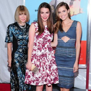 Anna Wintour, Bee Shaffer, Allison Williams in Wish I Was Here Screening