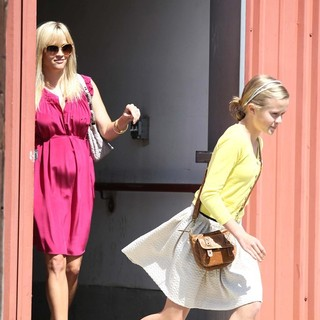 Reese Witherspoon, Ava Phillippe in Reese Witherspoon Seen with A Visible Baby Bump Spends Easter Sunday at Church with Her Children