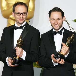 Laurent Witz, Alexandre Espigares in The 86th Annual Oscars - Press Room