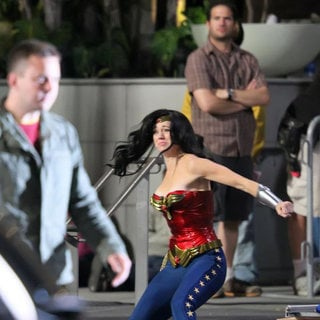 Adrianne Palicki in Adrianne Palicki Films A Scene for 'Wonder Woman' Where She Apprehends A Criminal