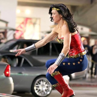 Filming in Hollywood on The Set of 'Wonder Woman'