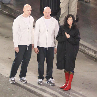Adrianne Palicki in Filming in Hollywood on The Set of 'Wonder Woman'