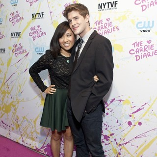 Ellen Wong, Brendan Dooling in The Carrie Diaries Premiere