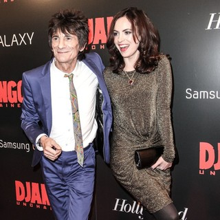 Ronnie Wood, Sally Humphries in The Premiere of Django Unchained