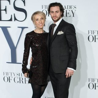 Sam Taylor-Wood, Aaron Johnson in Fifty Shades of Grey - UK Film Premiere
