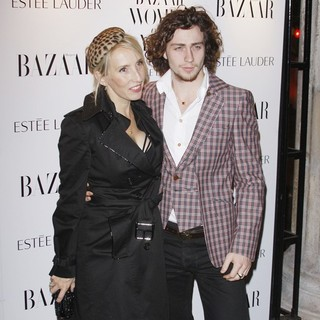 Sam Taylor-Wood, Aaron Johnson in Harper's Bazaar Woman of The Year Awards 2010 - Arrivals