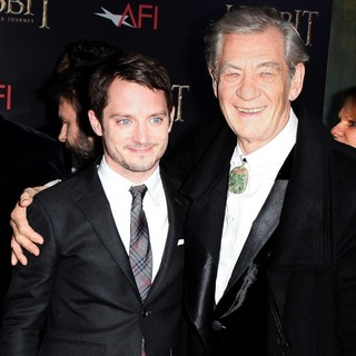 Elijah Wood, Ian McKellen in Premiere of The Hobbit: An Unexpected Journey