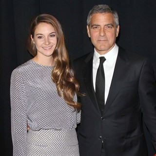 Shailene Woodley, George Clooney in The 23rd Annual Palm Springs International Film Festival Awards Gala - Press Room