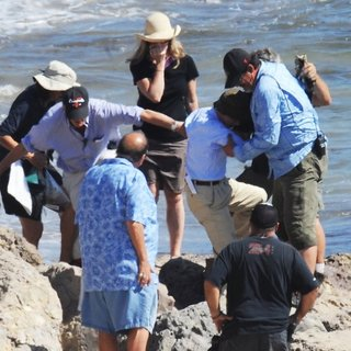 Filming Beach Scenes for Movie Woody Allen Project