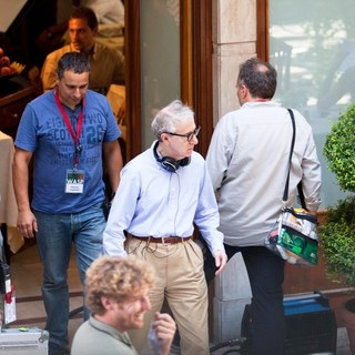 Woody Allen in On The Set of New Film The Bop Decameron