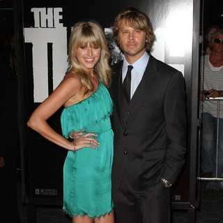 Sarah Wright, Eric Christian Olsen in Los Angeles Premiere of The Thing