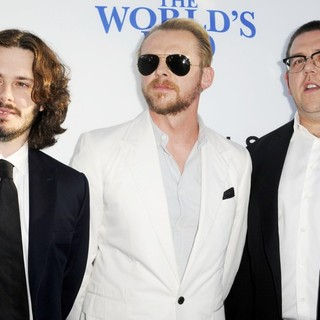 Edgar Wright, Simon Pegg, Nick Frost in The World's End Hollywood Premiere