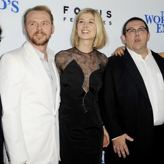 Edgar Wright, Simon Pegg, Rosamund Pike, Nick Frost, Nira Park in The World's End Hollywood Premiere