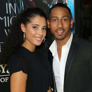 Denise Marie Xavier, Brandon T. Jackson in Percy Jackson: Sea of Monsters Premiere