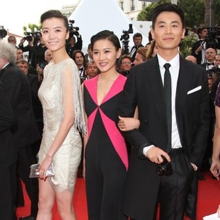 Qi Xi, Chang Fangyuan, Zhu Yawen in Rust and Bone Premiere - During The 65th Annual Cannes Film Festival