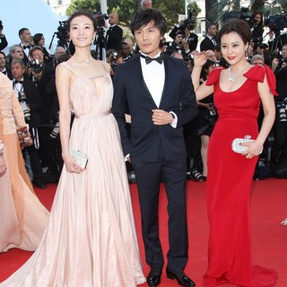Qi Xi, Qin Hao, Hao Lei in Moonrise Kingdom Premiere - During The Opening Ceremony of The 65th Cannes Film Festival
