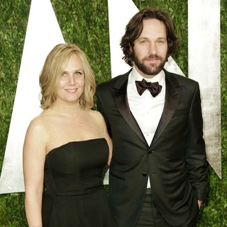 Julie Yaeger, Paul Rudd in 2013 Vanity Fair Oscar Party - Arrivals